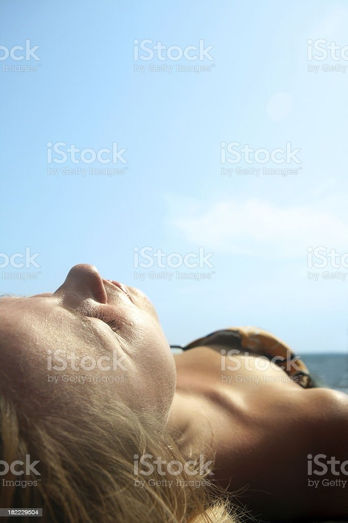 Sunbath royalty-free stock photo