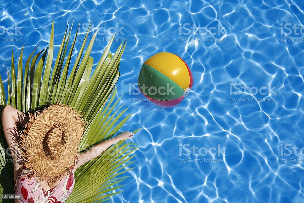 Sunbather royalty-free stock photo