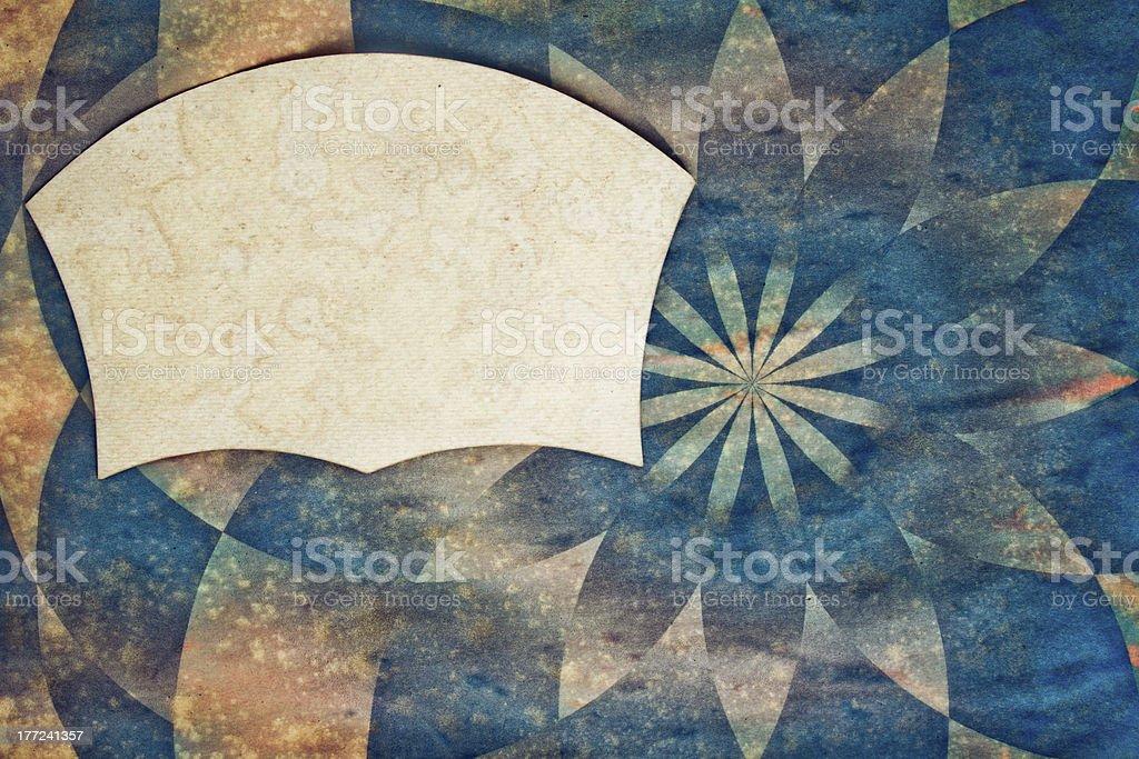 Sunbeam grunge background with paper blank for text royalty-free stock photo