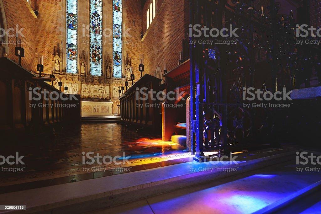 Sunbeam Illuminate Church stock photo