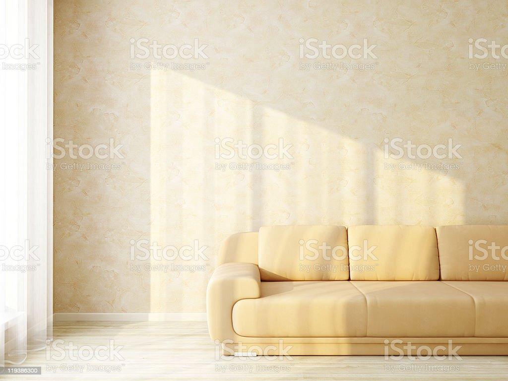 Sunbeam in Modern Interior Room stock photo