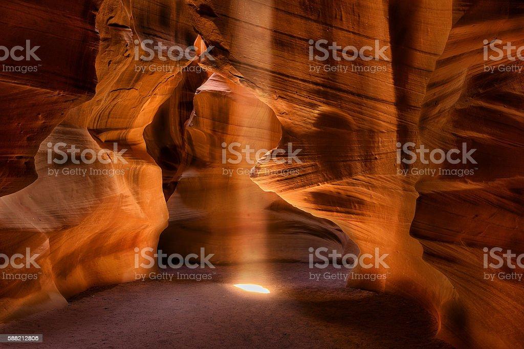 Sunbeam in Upper antelope Canyon stock photo