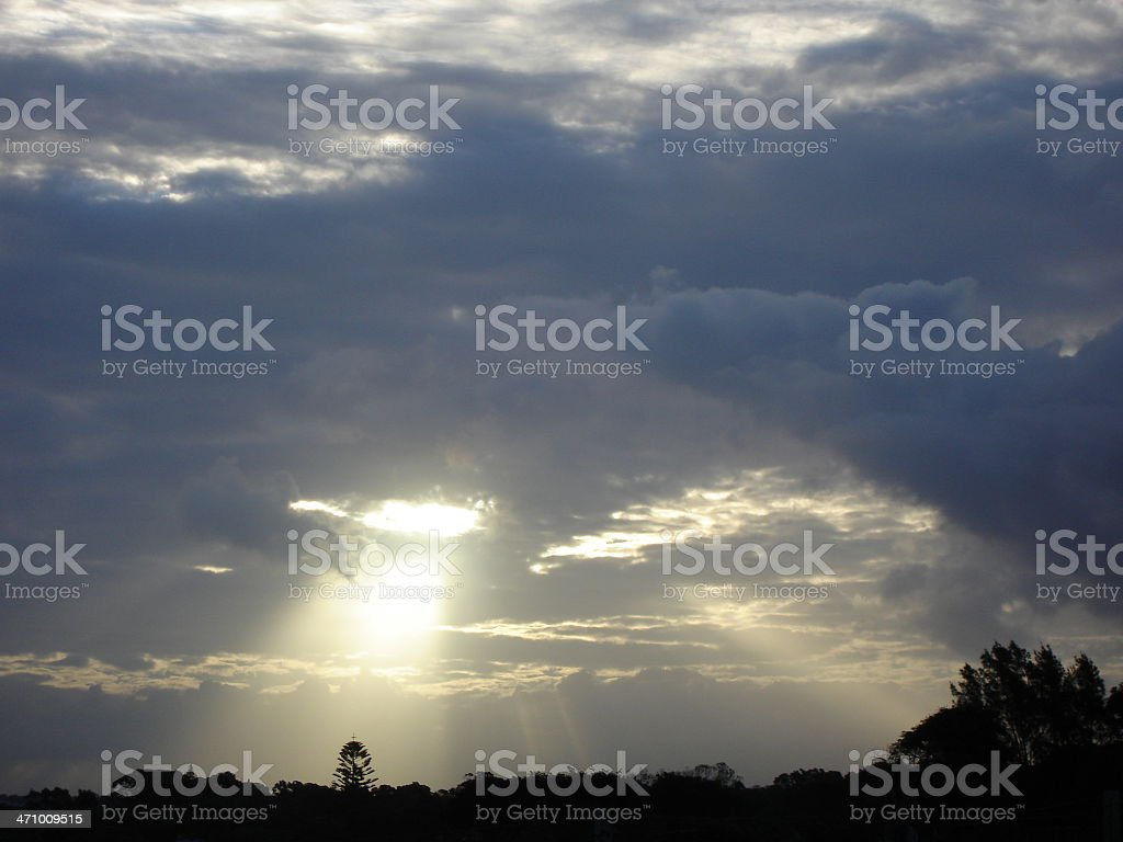 Sunbeam of Light from heaven royalty-free stock photo