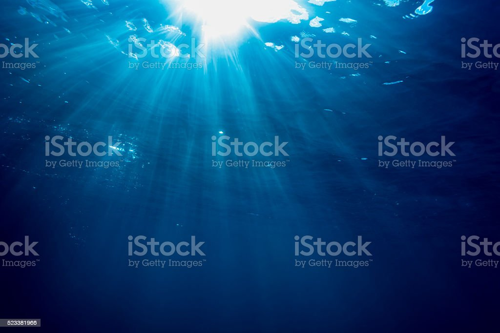 Sunbeam - Palau, Micronesia stock photo