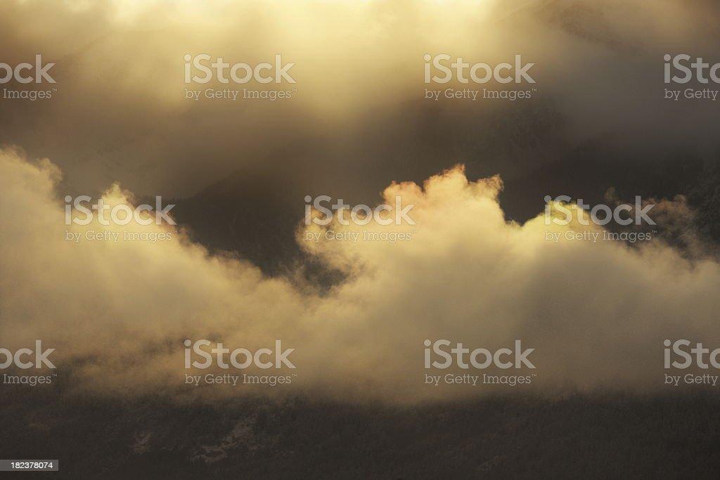 Sunbeam Storm Cloud Teton Wilderness royalty-free stock photo