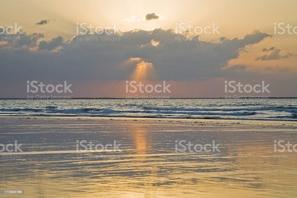 Sunbeam Sunset royalty-free stock photo