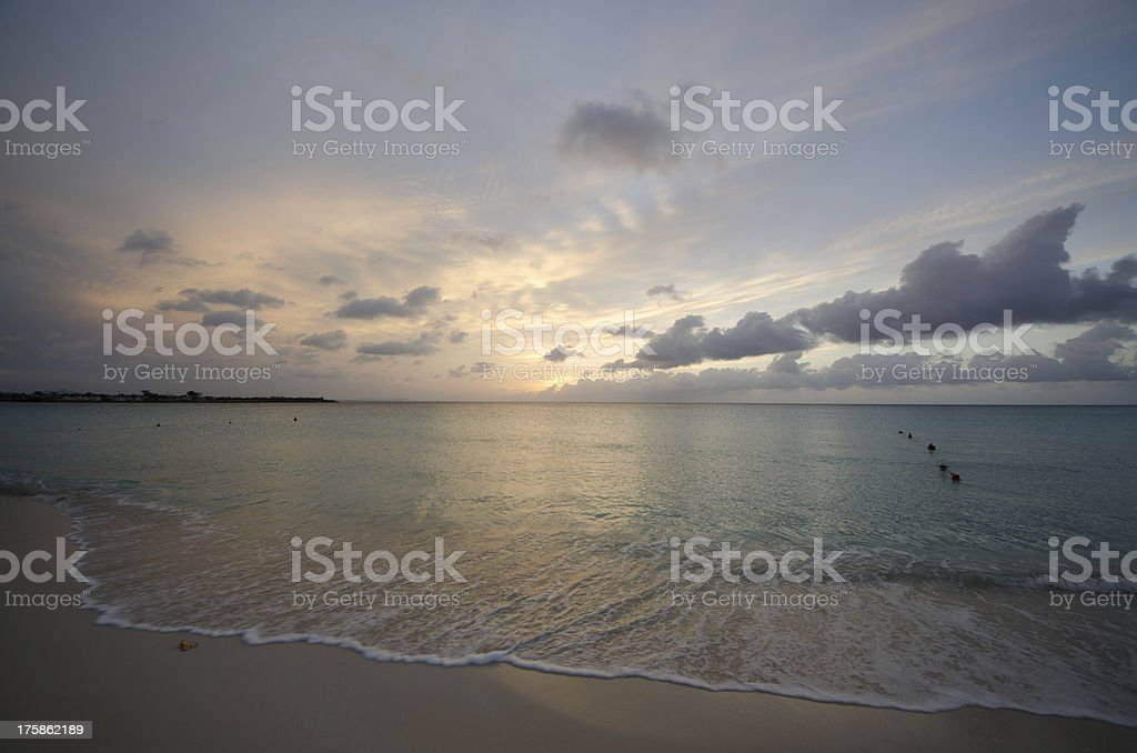Sunbeams, Beach, Sunrise, Sea, Cloudscape, Cloud royalty-free stock photo