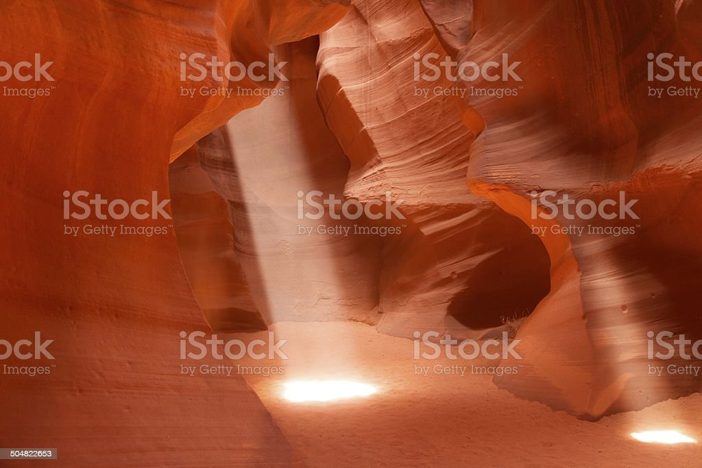 Sunbeams in Upper Antelope Canyon, Arizona, USA stock photo