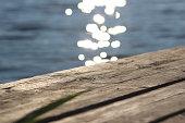 Sunbeams on the lake