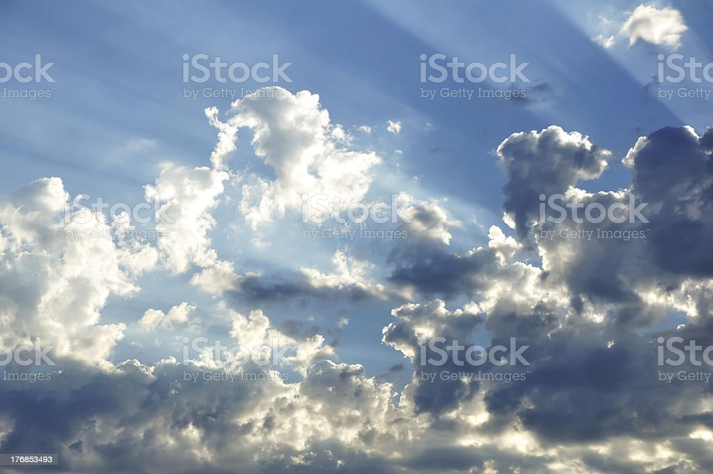 Sunbeams Through the Clouds royalty-free stock photo