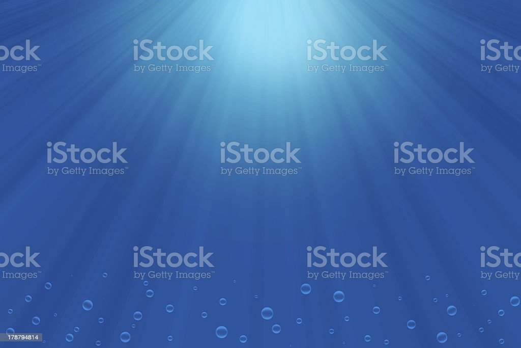 sunbeams under water royalty-free stock photo