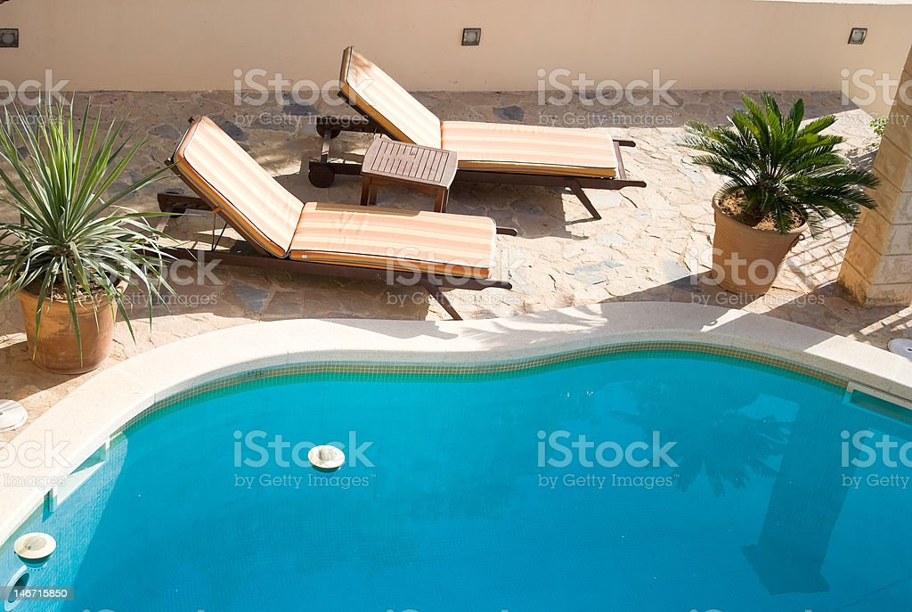Sunbed royalty-free stock photo