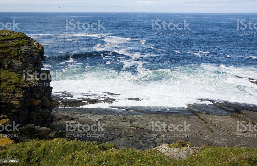 Sunburgh Head, view royalty-free stock photo