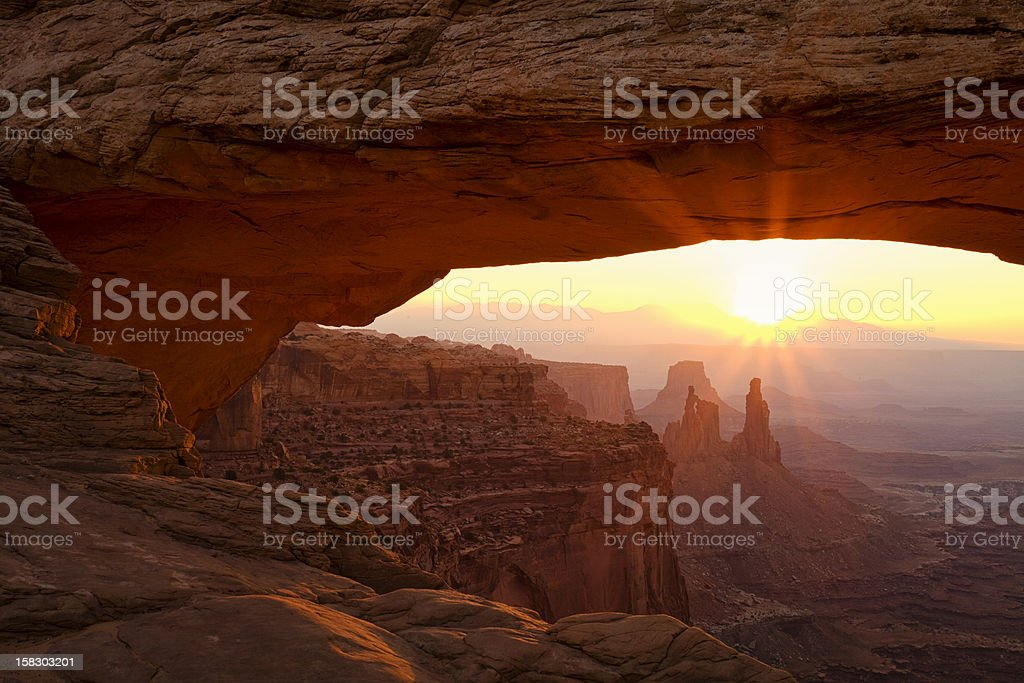 Sunburst at Mesa Arch stock photo