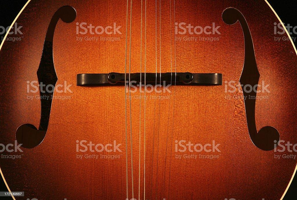 Sunburst Mandolin stock photo