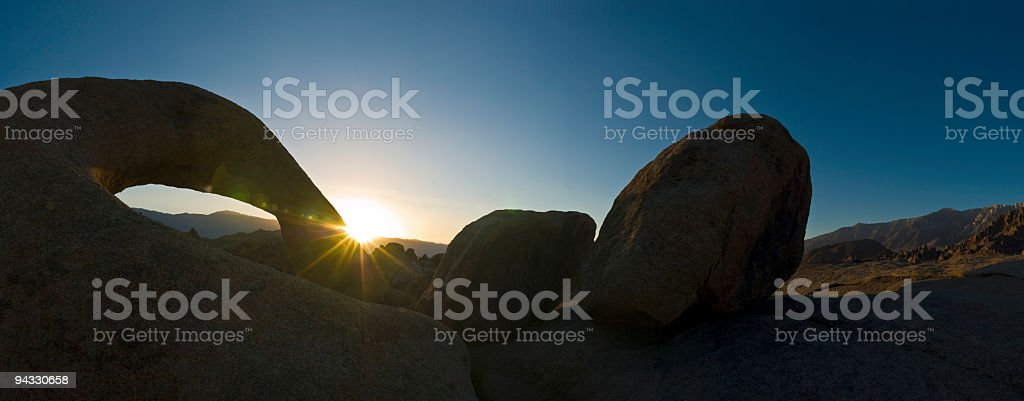 Sunburst, natural arch royalty-free stock photo