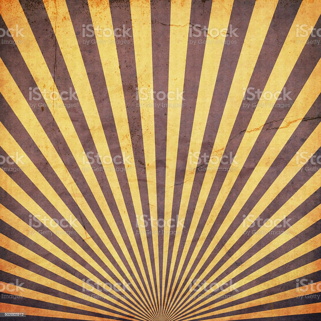 sunburst retro background and duplicate old paper texture stock photo