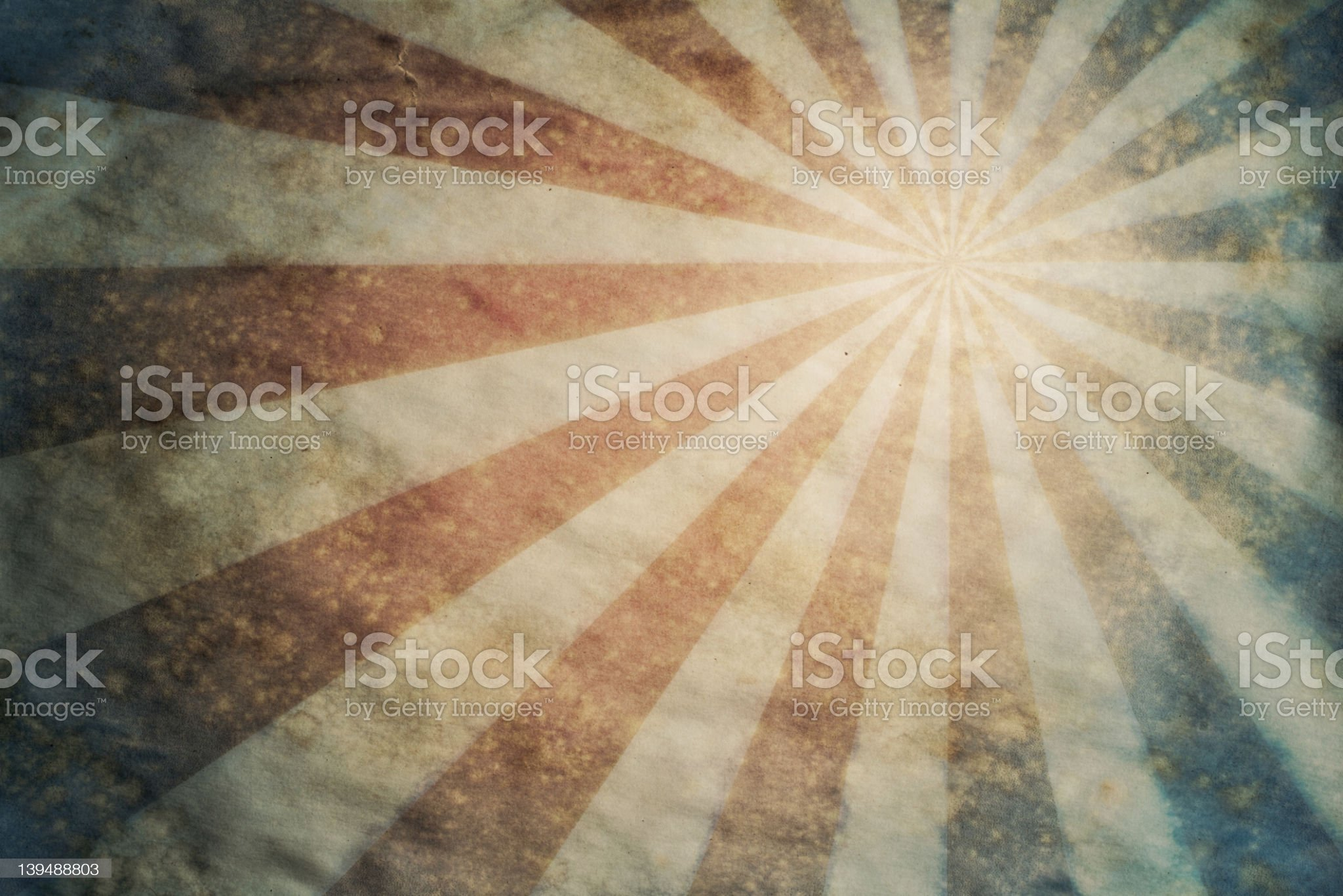 Sunburst retro grunge paper background royalty-free stock photo