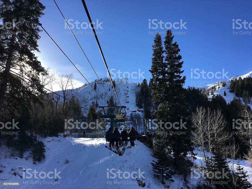 Sundance Mountain Resort in Winter stock photo