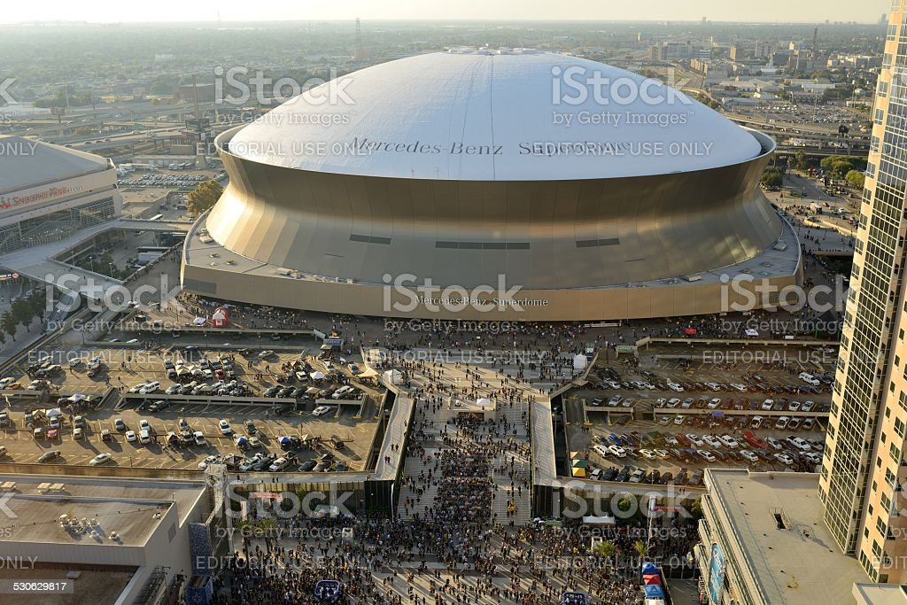 Sunday Afternoon at Superdome stock photo