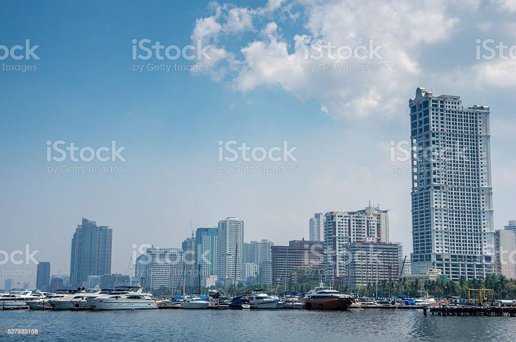 Sunday at Manila Bay stock photo