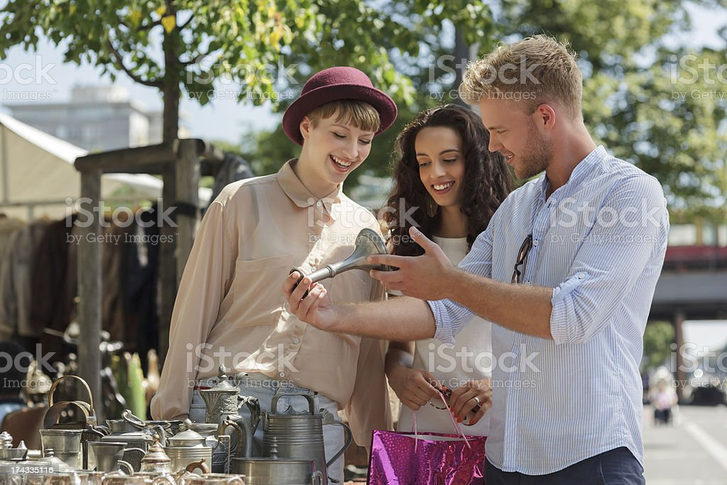 Sunday at The Flea Market royalty-free stock photo