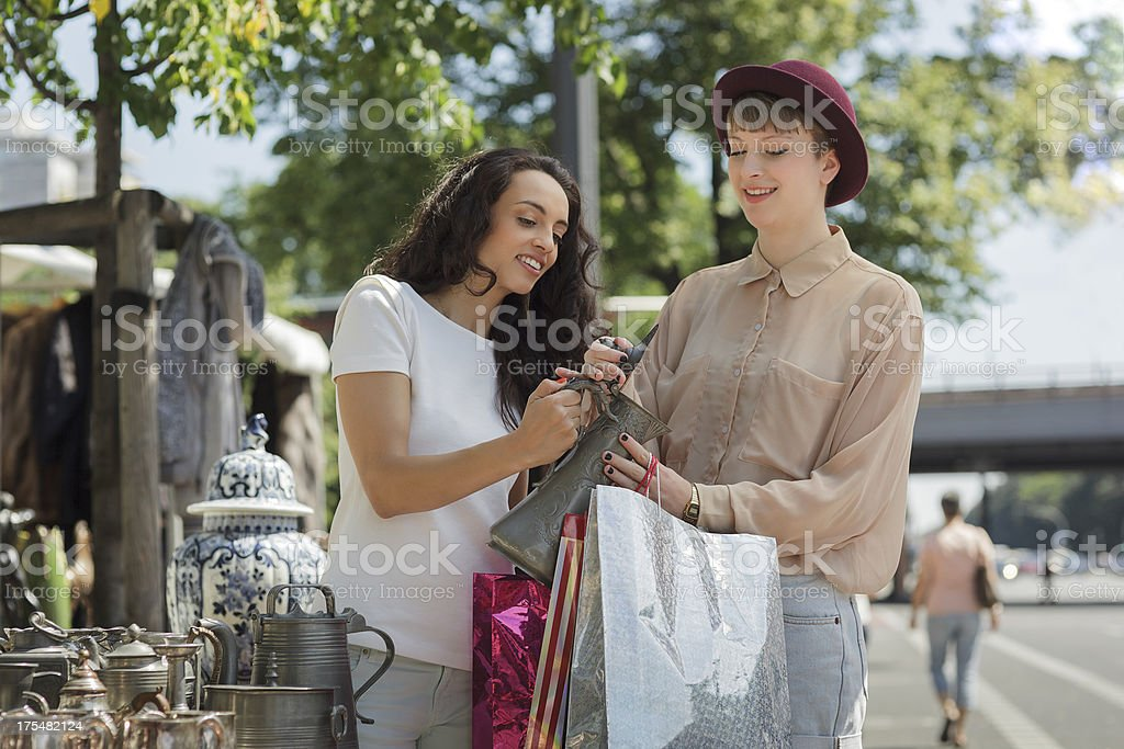 Sunday at The Flea Market royalty-free stock photo