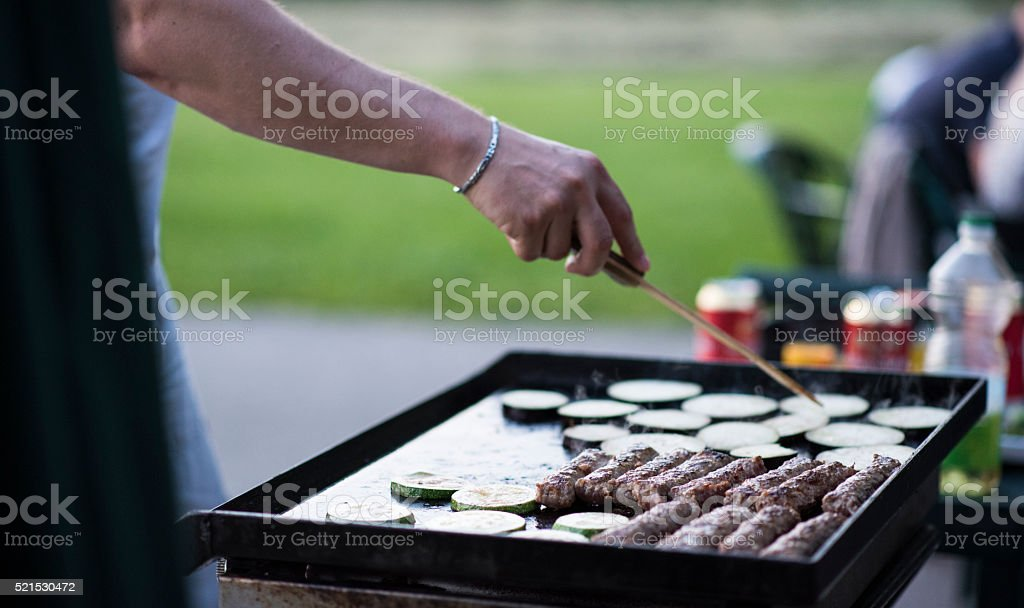 Sunday barbecue stock photo