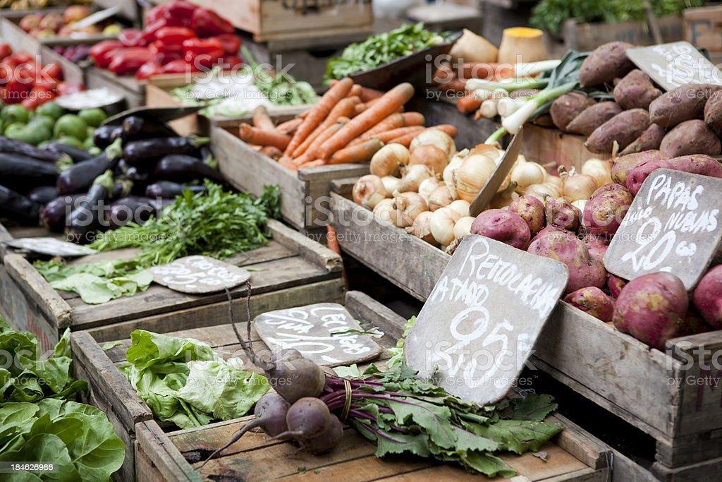 Sunday Farmers Market, Montevideo, Uruguay stock photo