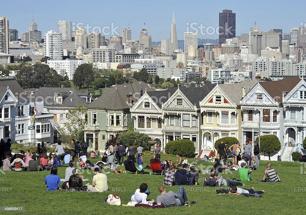 Sunday in San Francisco stock photo