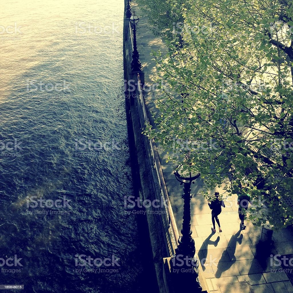 Sunday More Runner By The Thames stock photo