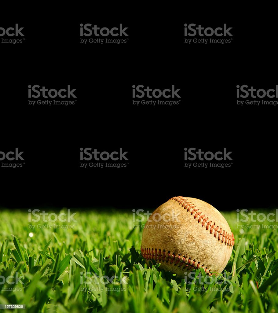 Sunday Night Baseball royalty-free stock photo