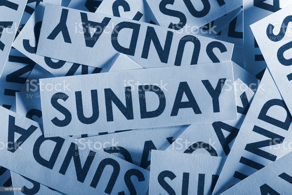 Sunday royalty-free stock photo
