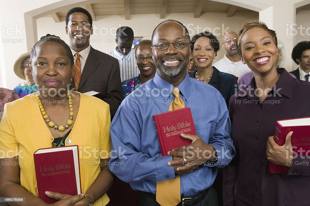 Sunday Service Congregation stock photo