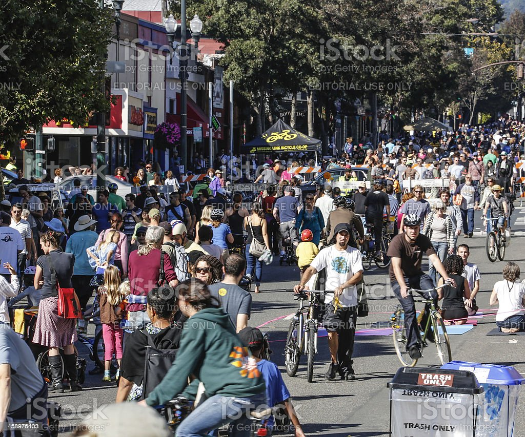 Sunday Streets Festival Berkeley, 2012 stock photo