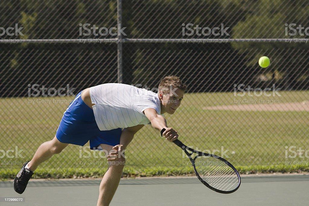 Sunday Tennis royalty-free stock photo