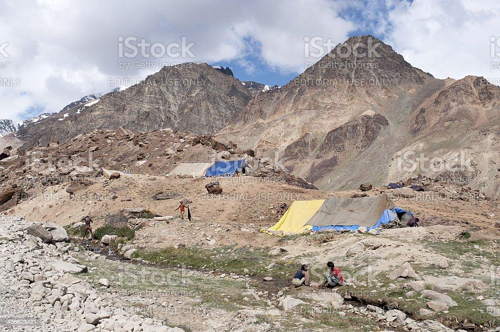 Sunday Washing in Indian Himalaya royalty-free stock photo