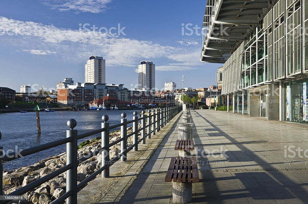 Sunderland and River Wear From National Glass Centre stock photo