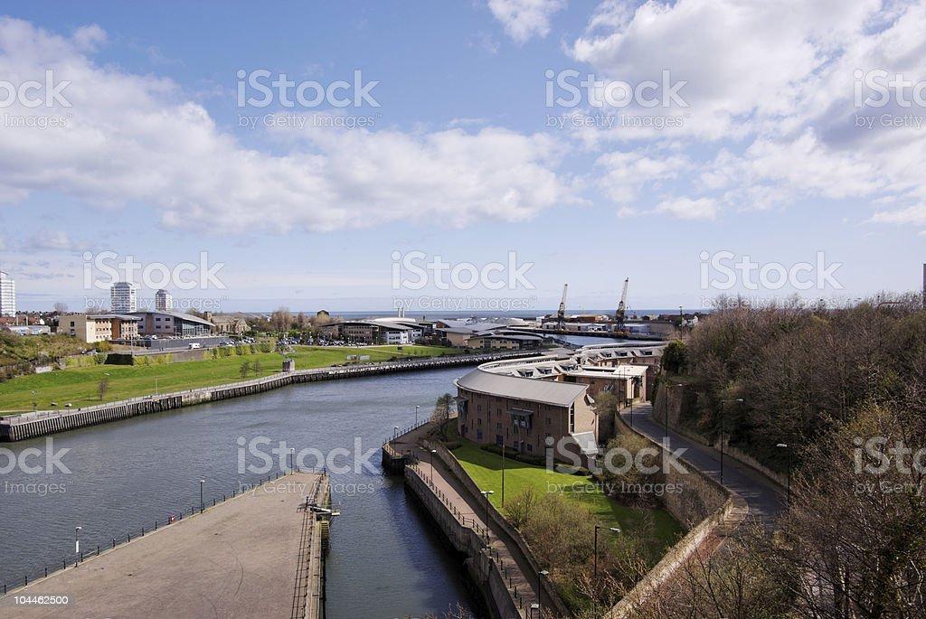 Sunderland Harbour stock photo