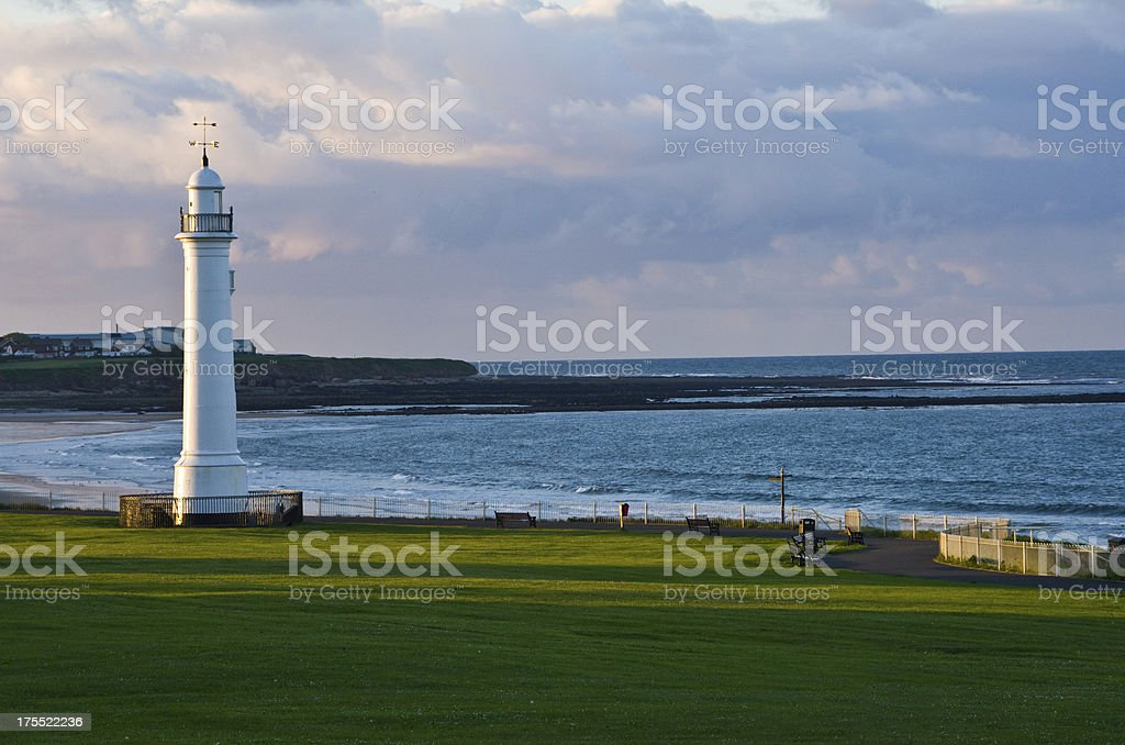 Sunderland seafront looking north in late evening stock photo