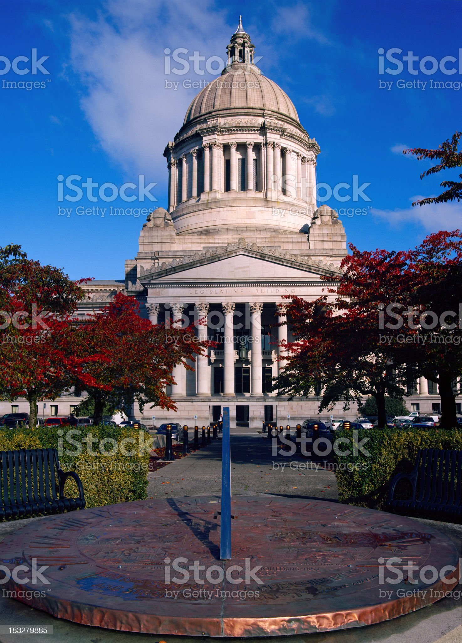 Sundial at Washington State Capitol royalty-free stock photo