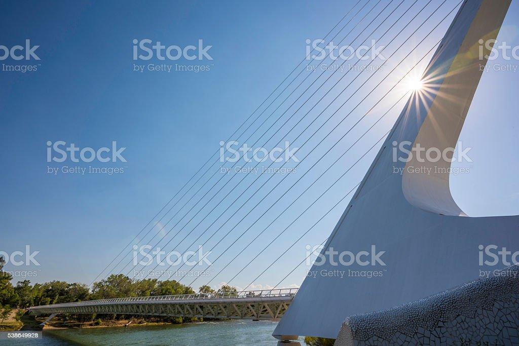 Sundial Bridge Redding California stock photo