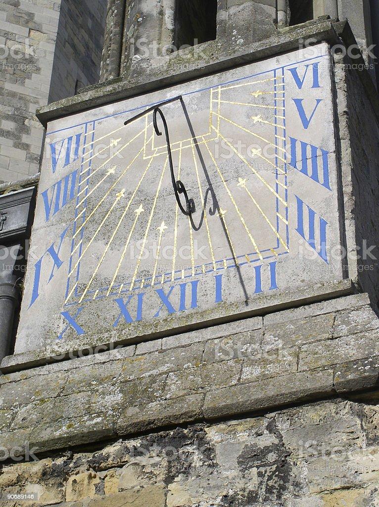 Sundial clock royalty-free stock photo