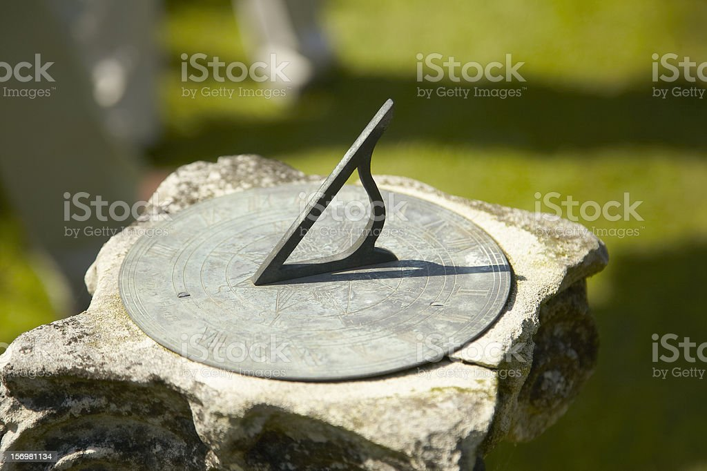 Sundial In Garden stock photo