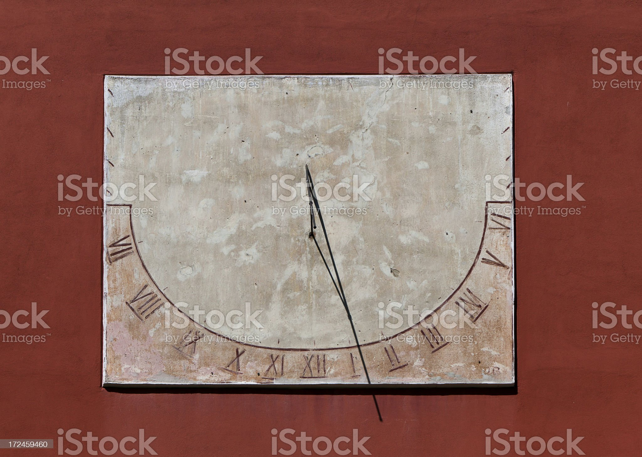 Sundial On The Wall royalty-free stock photo