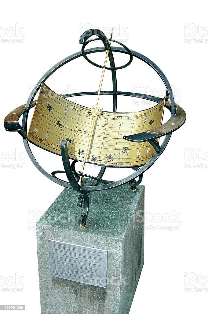 sun-dial (zodiac) stock photo