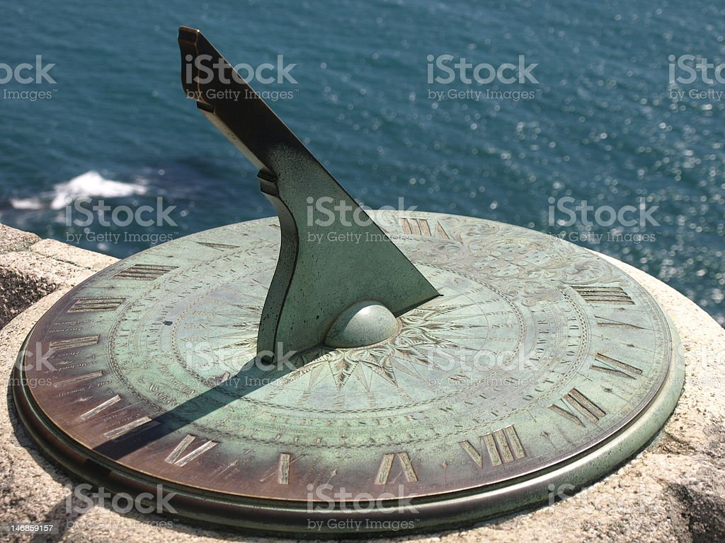 Sundial showing the time royalty-free stock photo