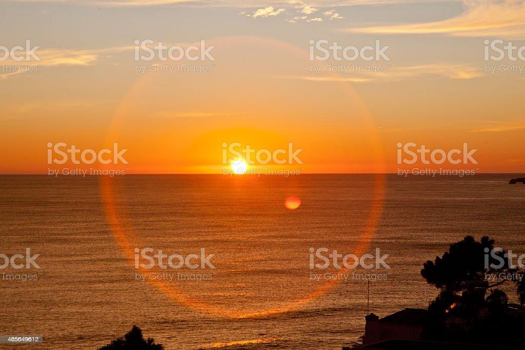 Sundog Sunflare stock photo