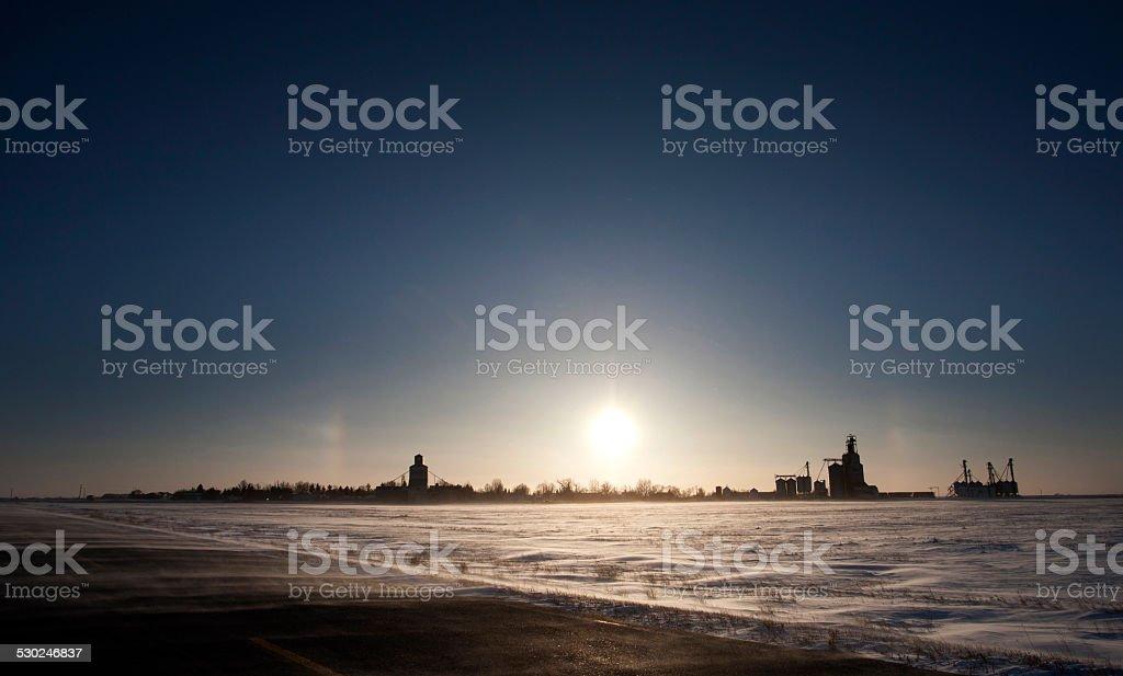 Sundogs Canada stock photo
