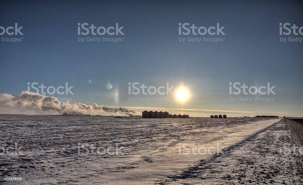 Sundogs in Winter stock photo